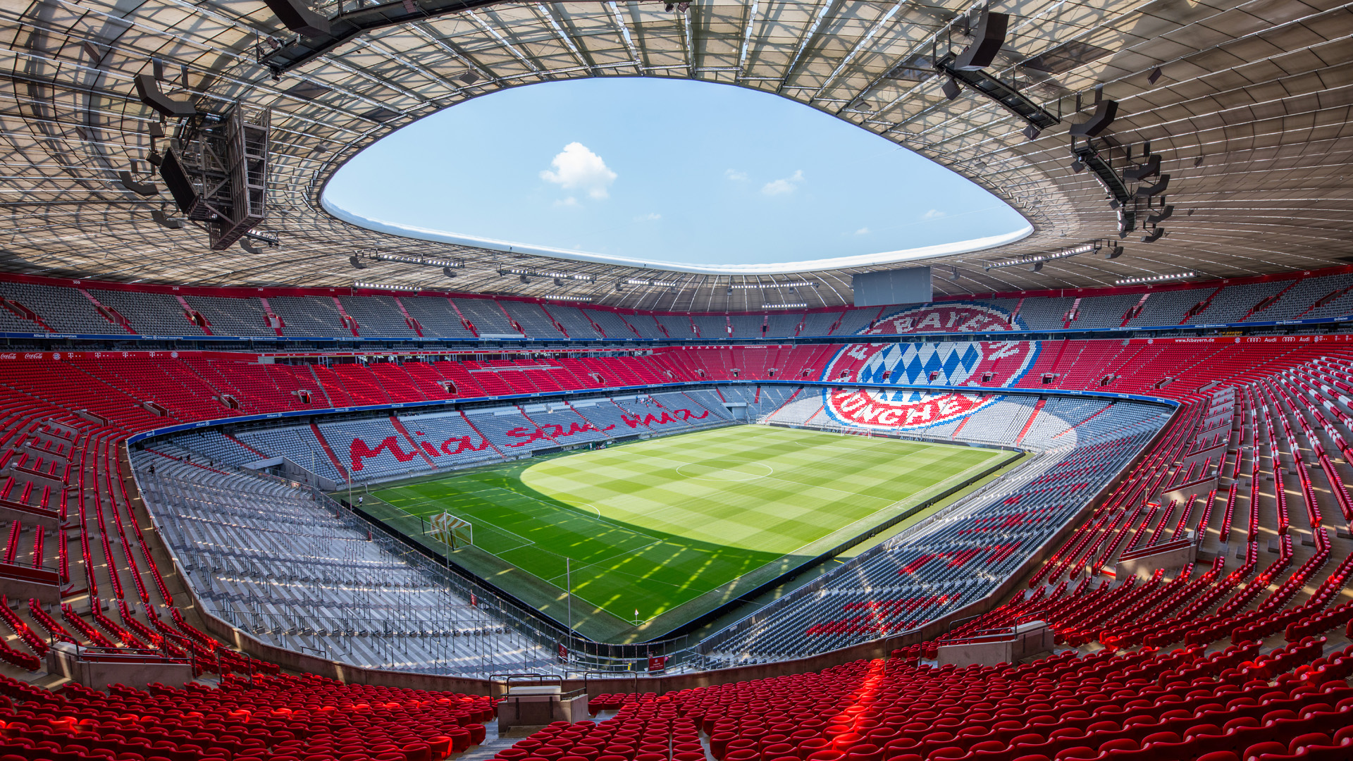 Allianz Arena. Virtual background to use on Zoom, Microsoft Teams, Skype, Google Meet, WebEx or any other compatible app.