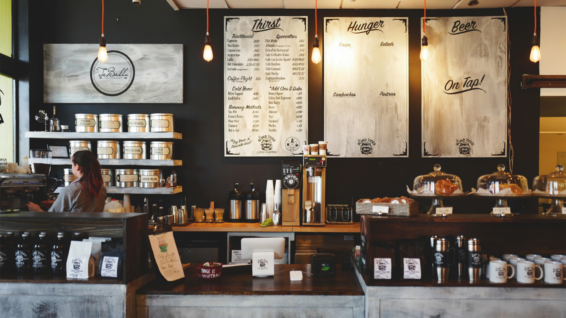 Coffee shop. Virtual background to use on Zoom, Microsoft Teams, Skype, Google Meet, WebEx or any other compatible app.