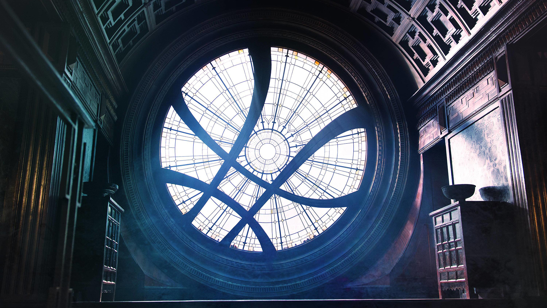 Doctor Strange's Window of the Worlds. Virtual background to use on Zoom, Microsoft Teams, Skype, Google Meet, WebEx or any other compatible app.