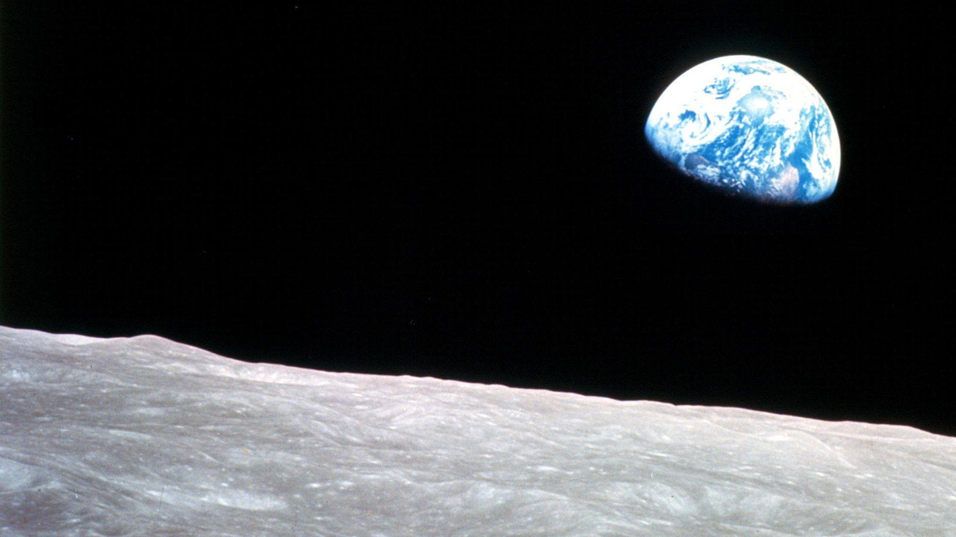 Earthrise. Virtual background to use on Zoom, Microsoft Teams, Skype, Google Meet, WebEx or any other compatible app.