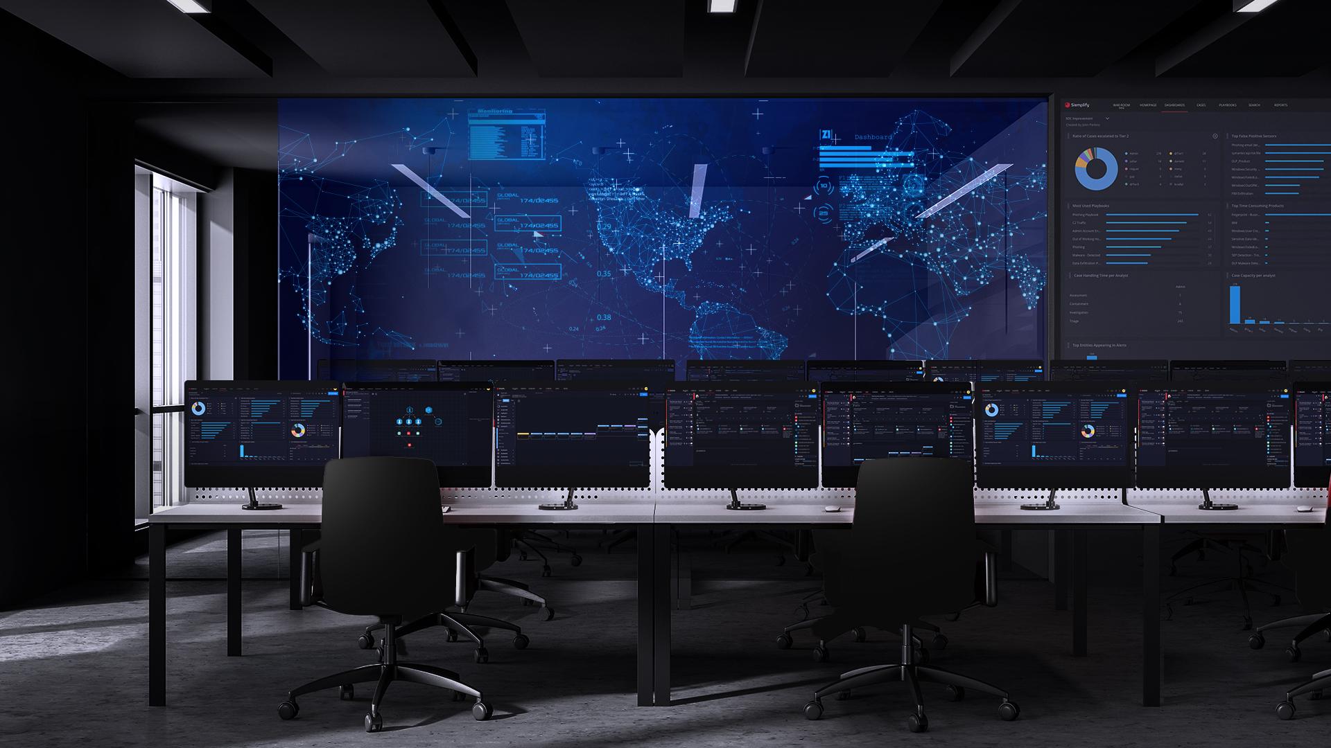 Oficina futurista. Fondo virtual gratuito para Zoom, Microsoft Teams, Skype, Google Meet, WebEx o cualquier otra aplicación compatible.