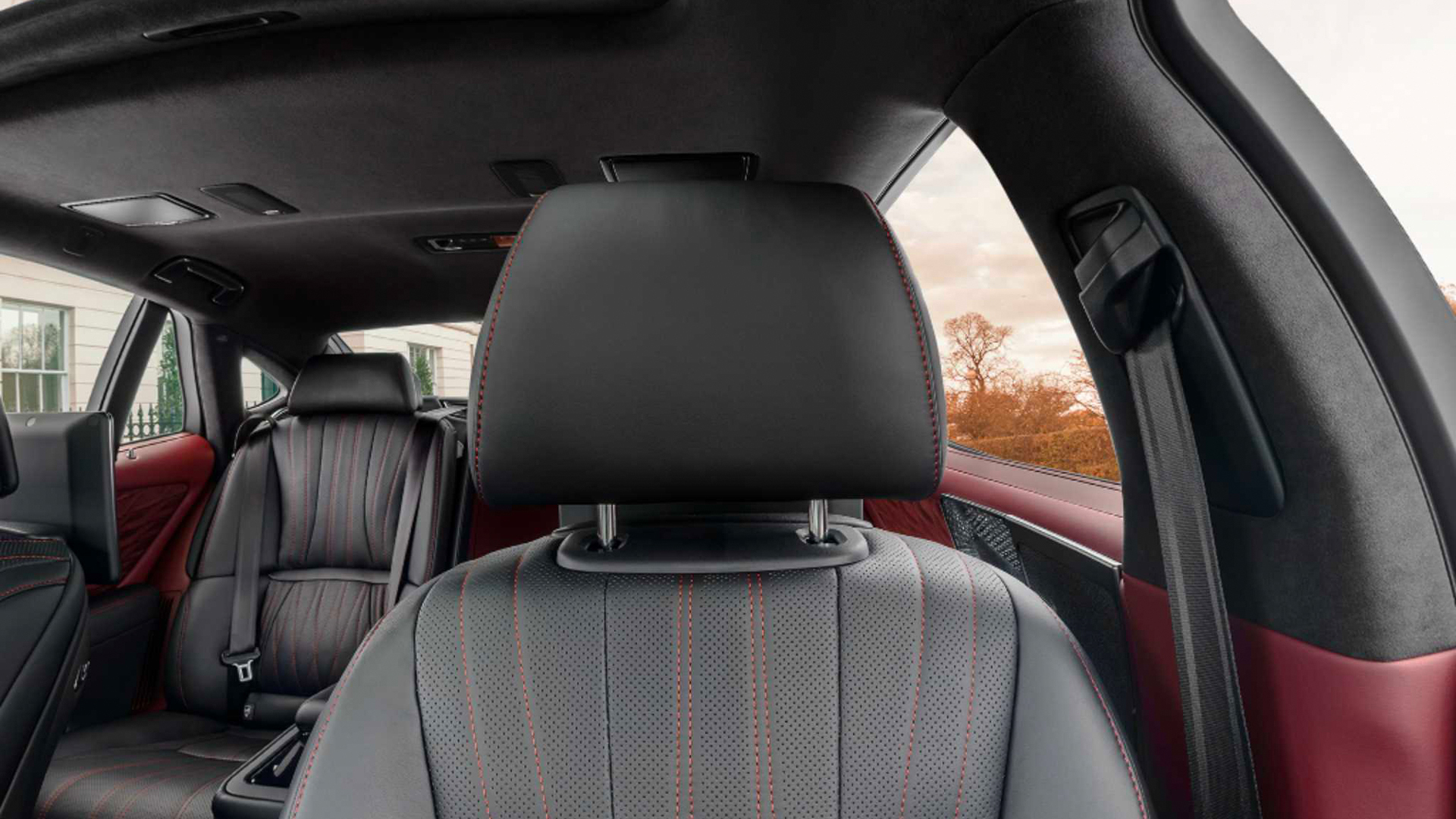 Lexus LS driver's seat. Virtual background to use on Zoom, Microsoft Teams, Skype, Google Meet, WebEx or any other compatible app.