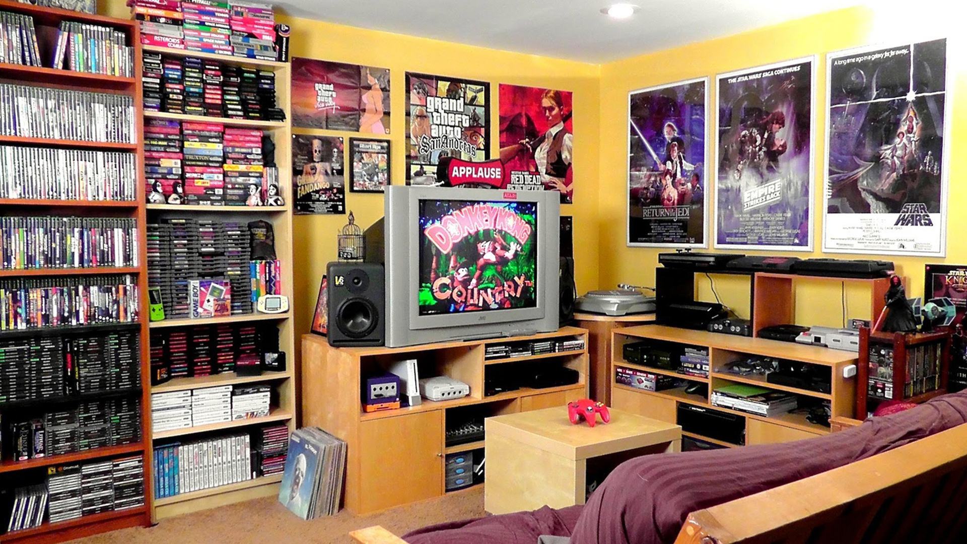 Retro gaming geek room. Virtual background to use on Zoom, Microsoft Teams, Skype, Google Meet, WebEx or any other compatible app.