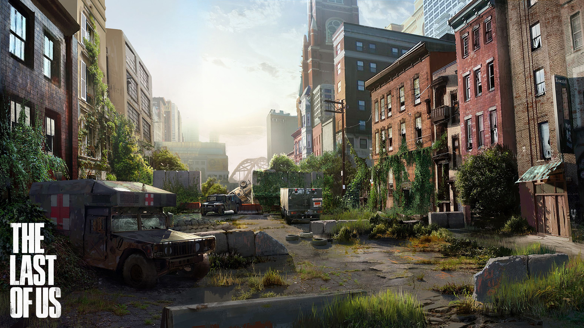 The Last of Us streets of Pittsburgh. Virtual background to use on Zoom, Microsoft Teams, Skype, Google Meet, WebEx or any other compatible app.
