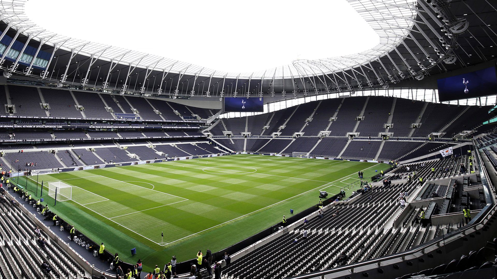 Tottenham Hotspur Stadium. Virtual background to use on Zoom, Microsoft Teams, Skype, Google Meet, WebEx or any other compatible app.