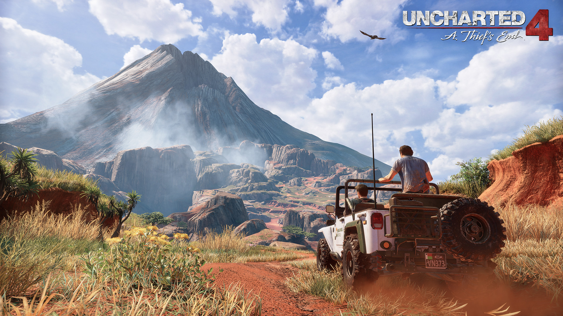 Uncharted 4 Madagascar's volcano. Virtual background to use on Zoom, Microsoft Teams, Skype, Google Meet, WebEx or any other compatible app.