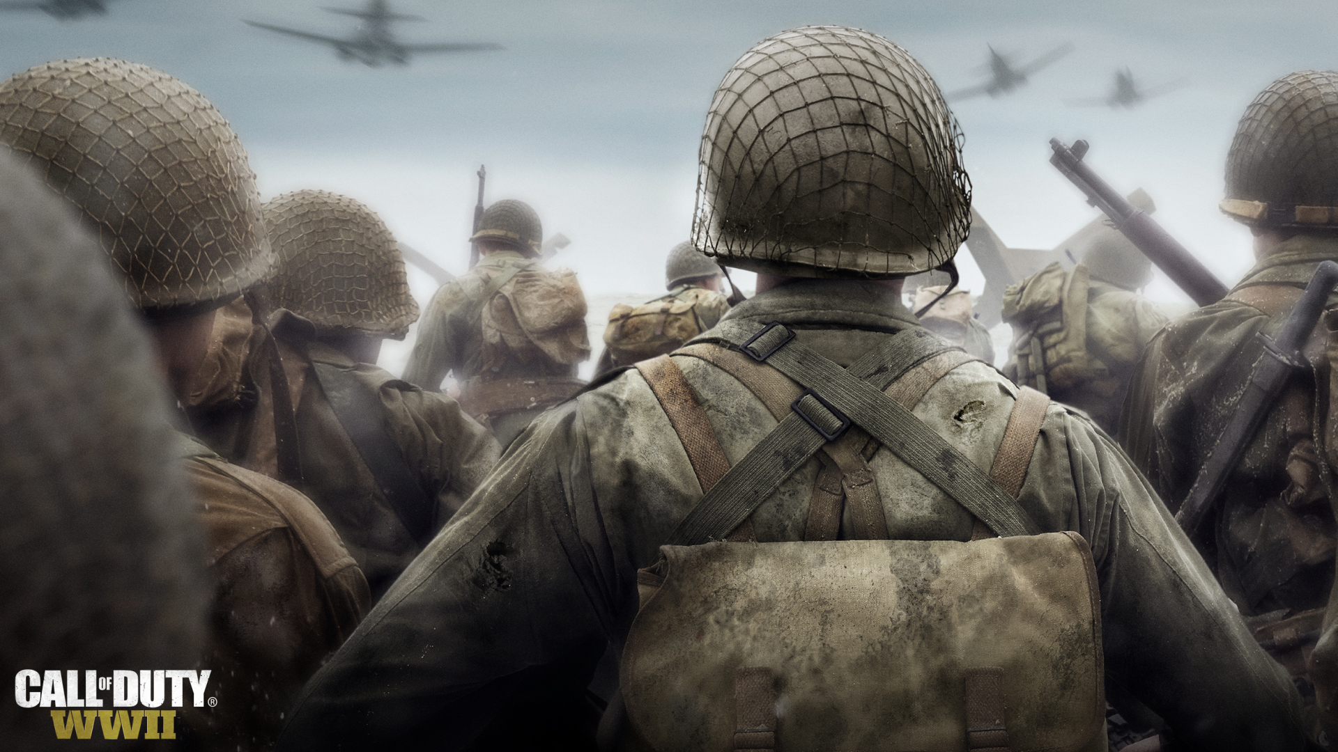 Call of Duty: WWII D-Day. Virtual background to use on Zoom, Microsoft Teams, Skype, Google Meet, WebEx or any other compatible app.