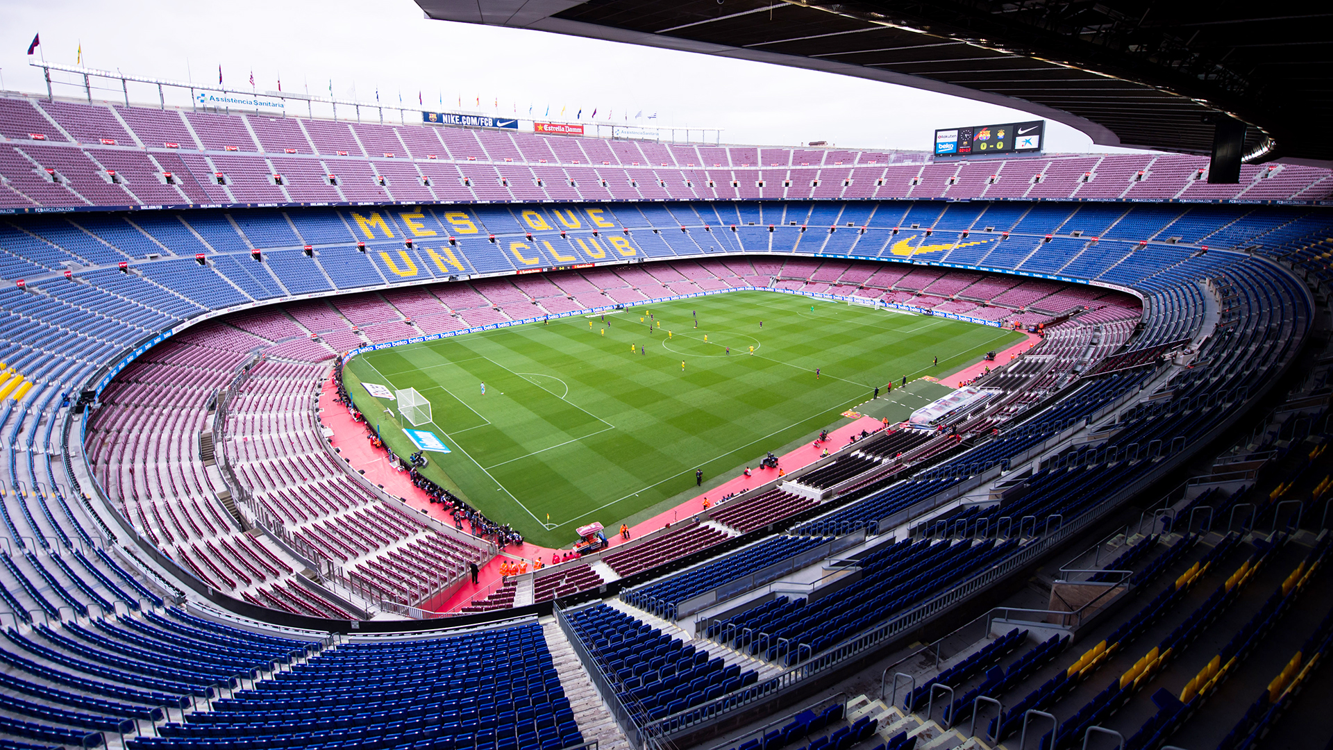 Camp Nou. Virtual background to use on Zoom, Microsoft Teams, Skype, Google Meet, WebEx or any other compatible app.