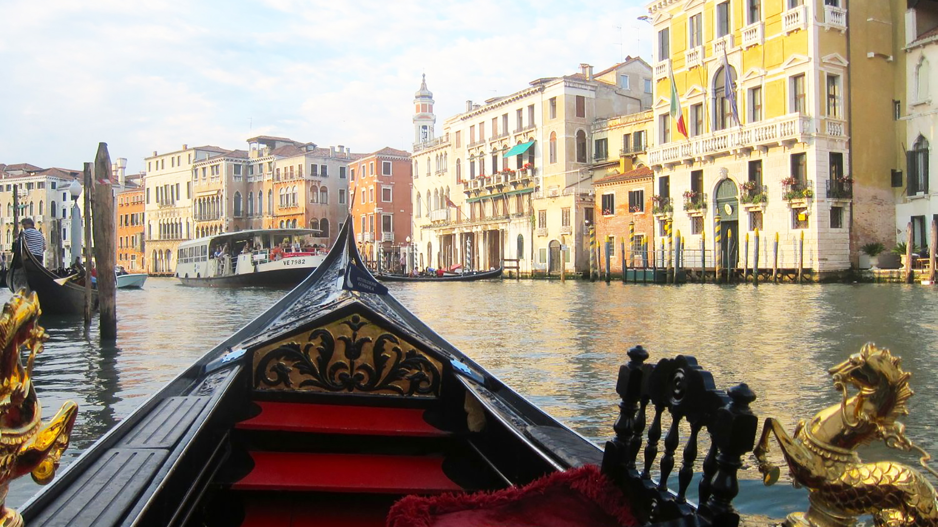 Gondola ride in Venice. Virtual background to use on Zoom, Microsoft Teams, Skype, Google Meet, WebEx or any other compatible app.