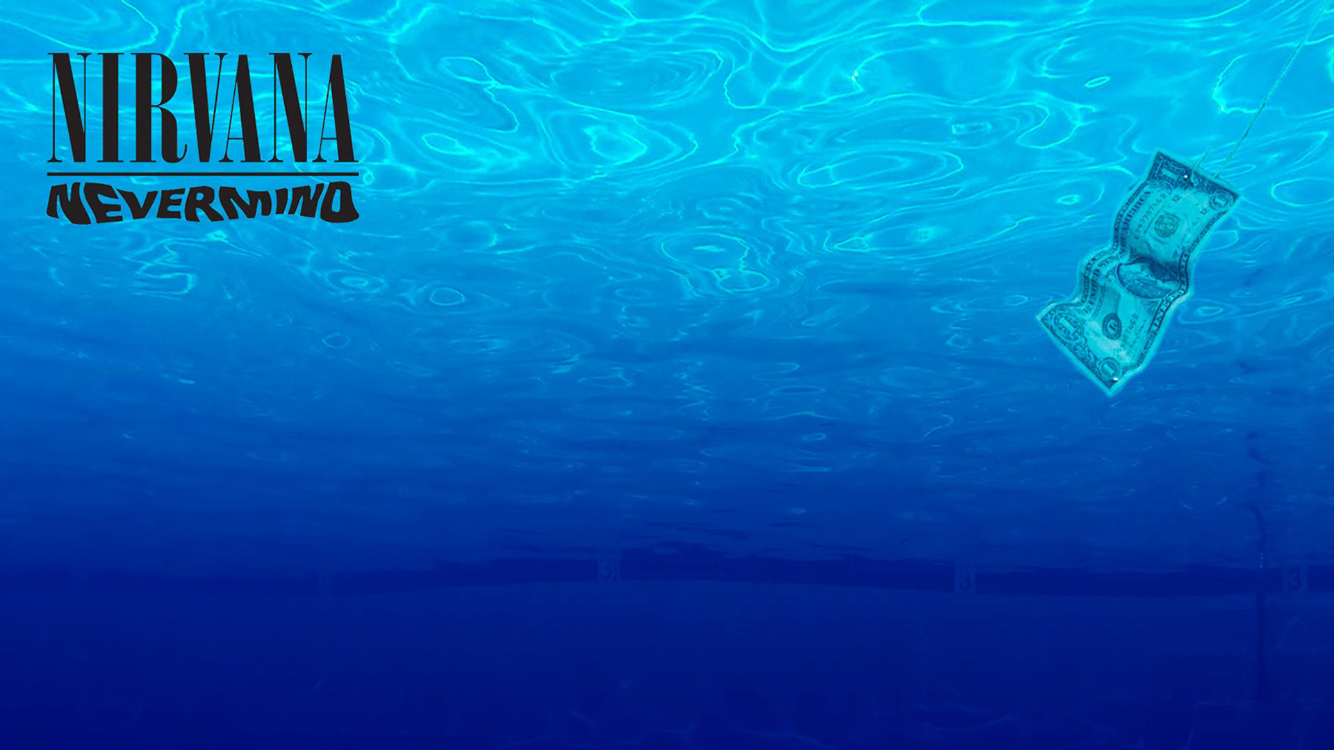 Nirvana Nevermind album cover. Virtual background to use on Zoom, Microsoft Teams, Skype, Google Meet, WebEx or any other compatible app.