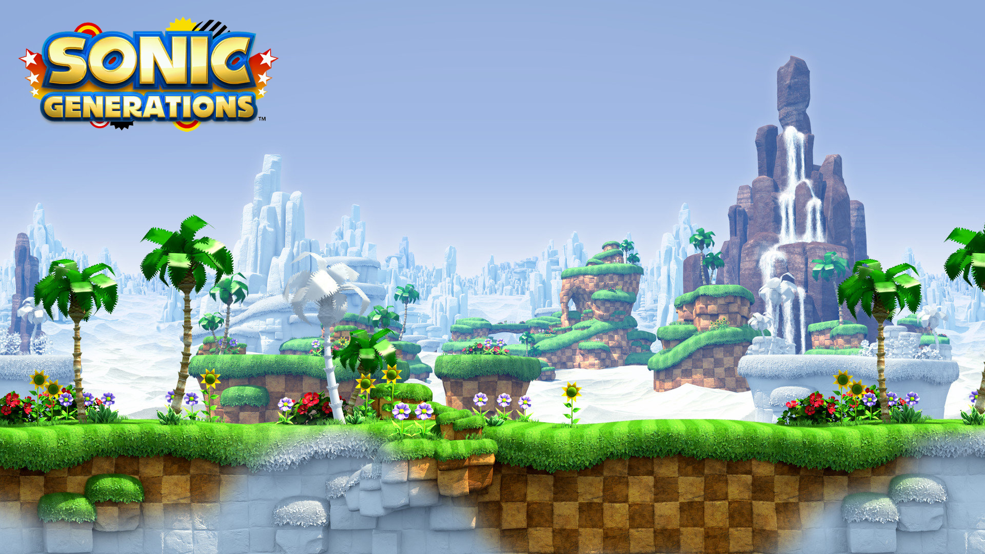Sonic Generations classic mode landscape. Virtual background to use on Zoom, Microsoft Teams, Skype, Google Meet, WebEx or any other compatible app.