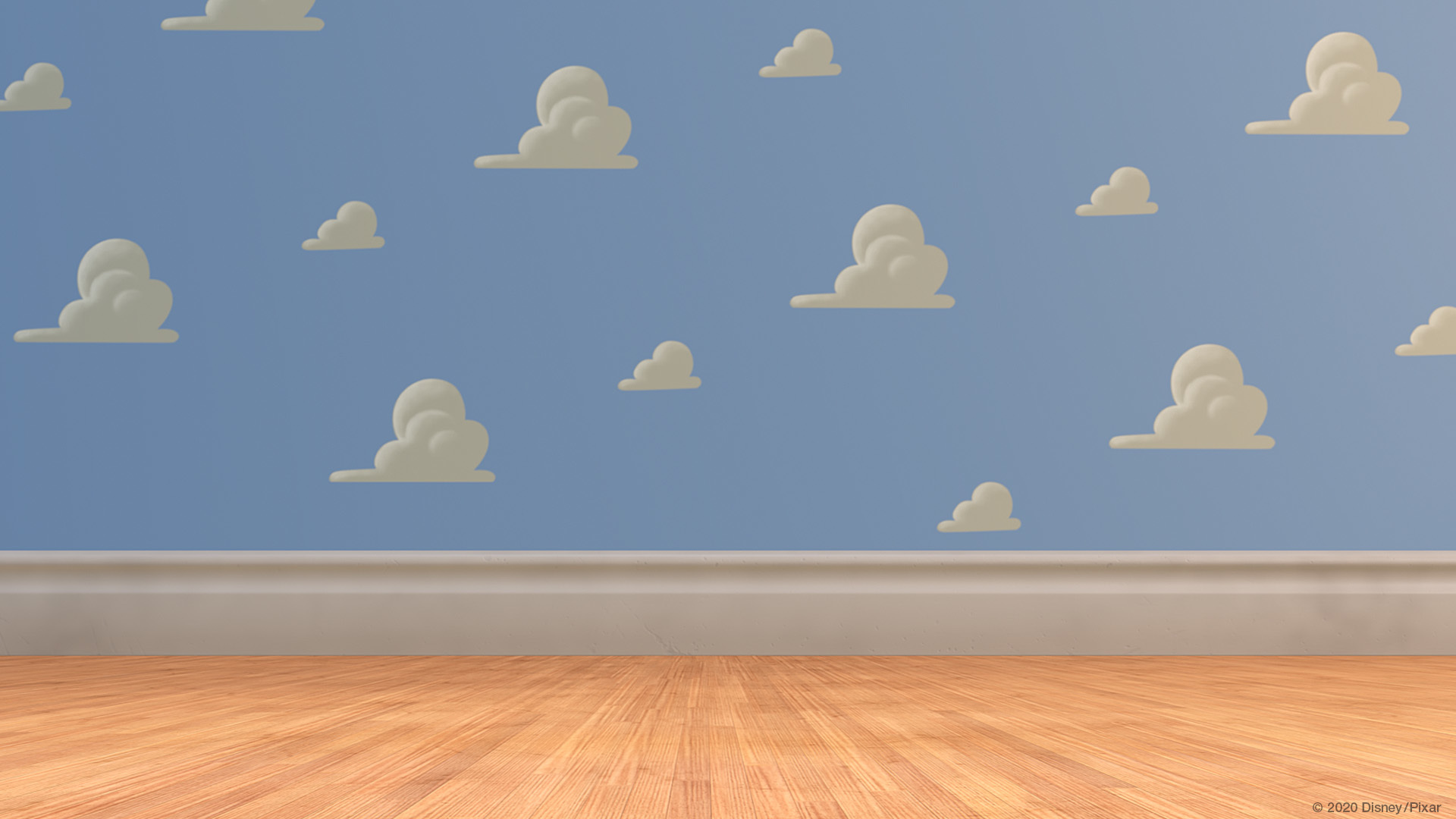 Toy Story Andy's room wallpaper. Virtual background to use on Zoom, Microsoft Teams, Skype, Google Meet, WebEx or any other compatible app.
