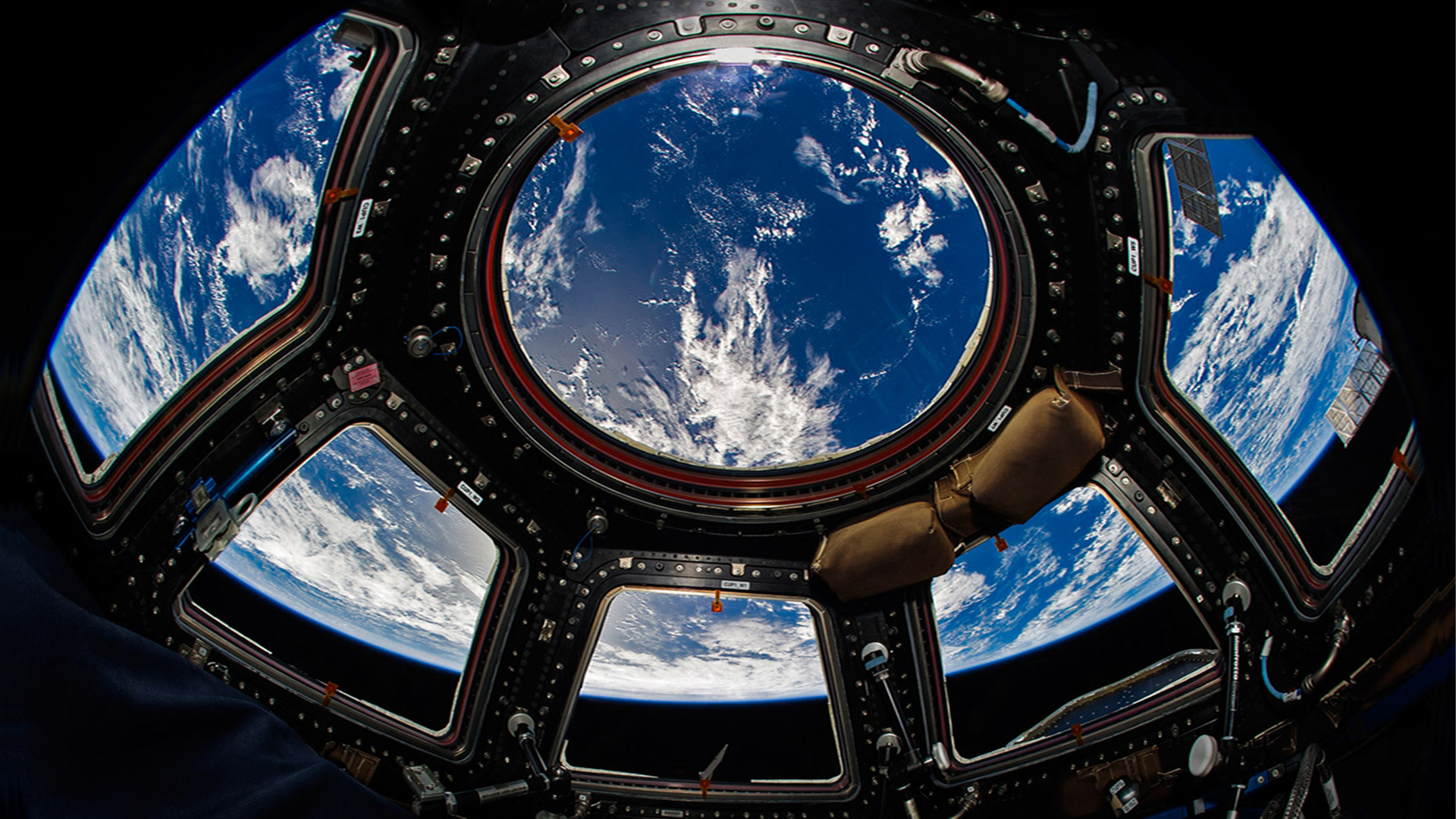 International Space Station Cupola. Virtual background to use on Zoom, Microsoft Teams, Skype, Google Meet, WebEx or any other campatible app.
