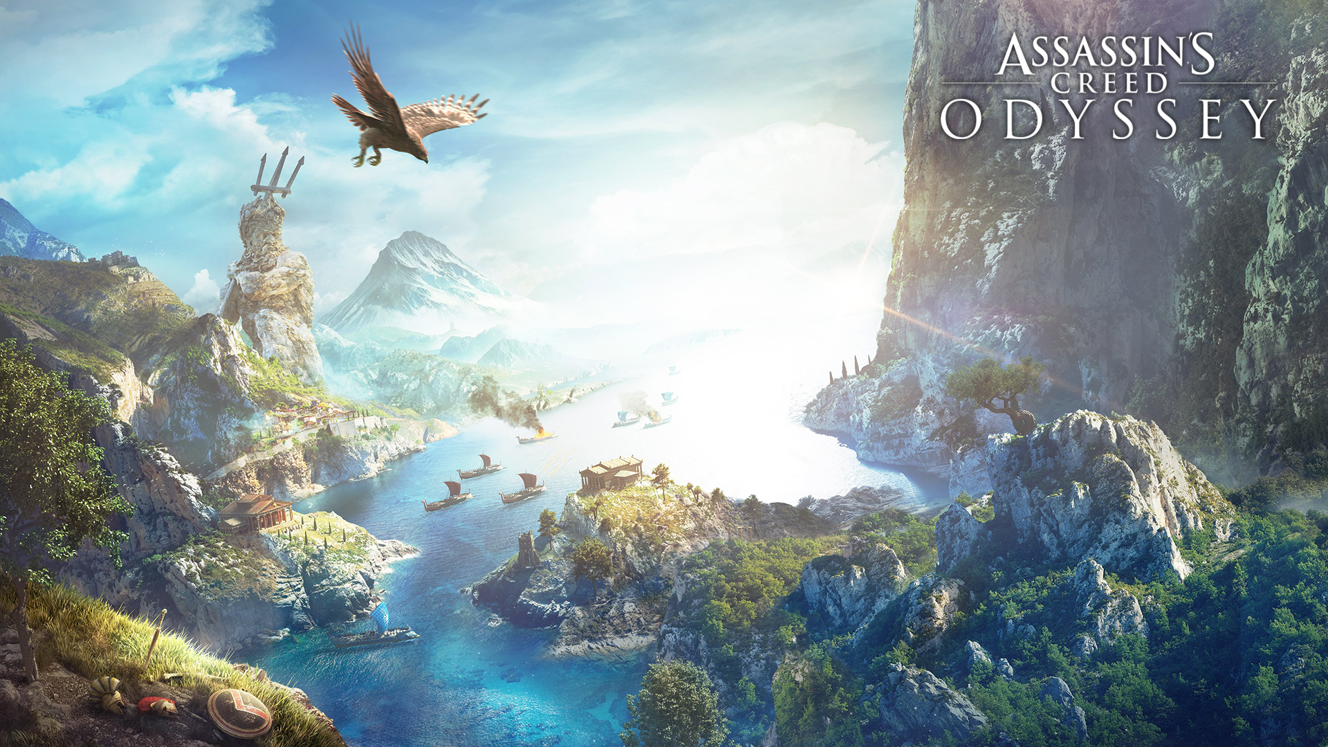 Assassin's Creed Odyssey landscape. Virtual background to use on Zoom, Microsoft Teams, Skype, Google Meet, WebEx or any other compatible app.