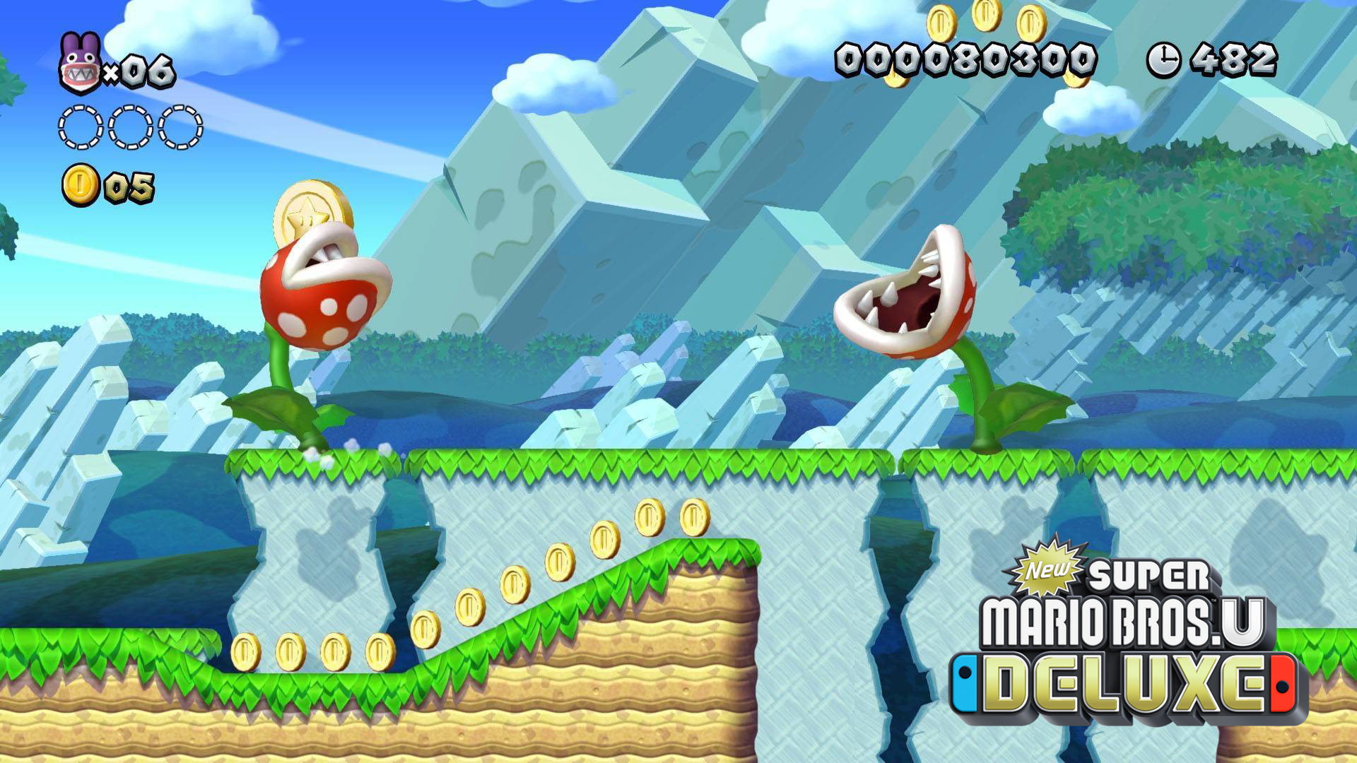 New Super Mario Bros. U Deluxe gameplay. Virtual background to use on Zoom, Microsoft Teams, Skype, Google Meet, WebEx or any other compatible app.