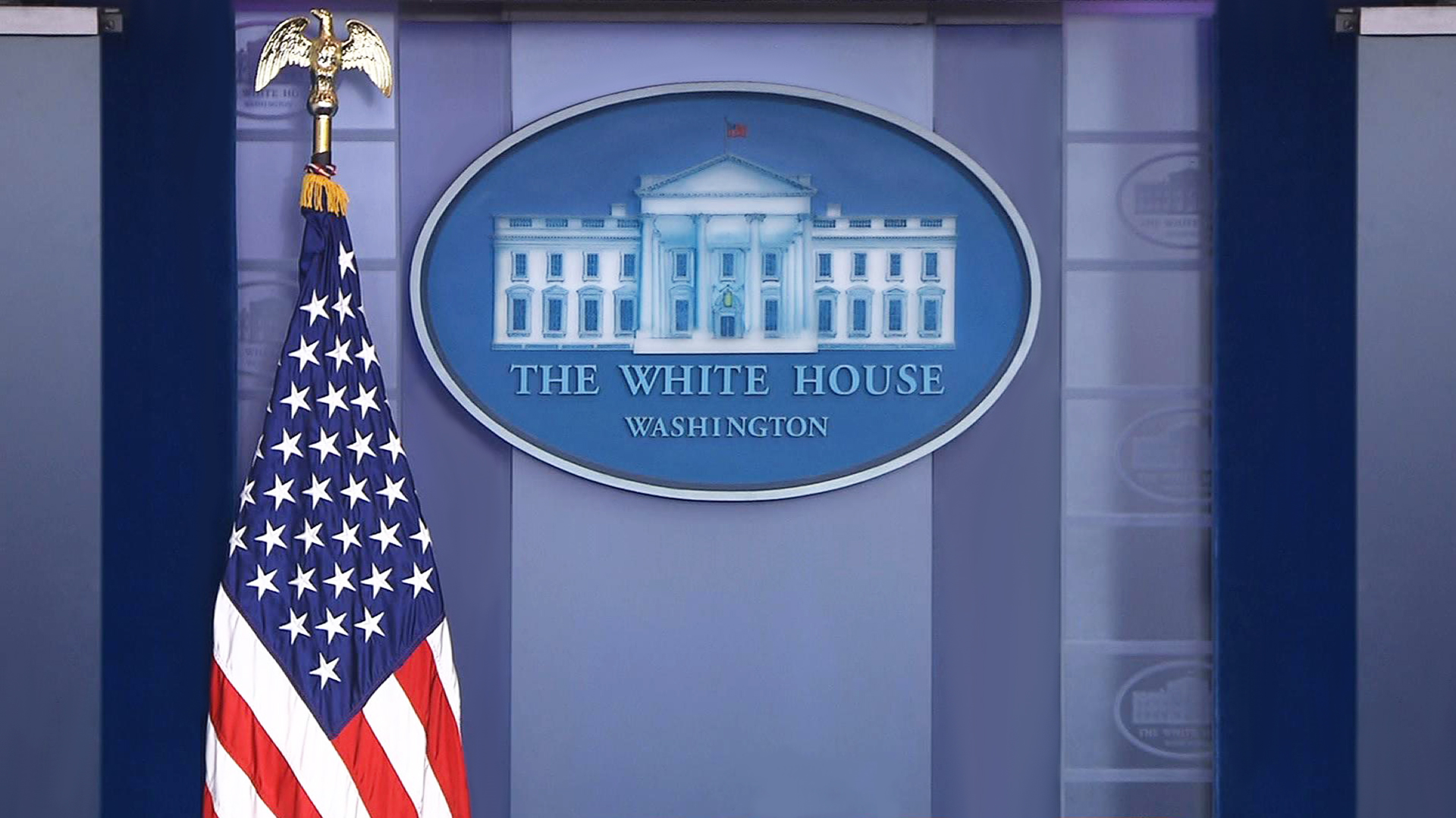 The White House briefing. Virtual background to use on Zoom, Microsoft Teams, Skype, Google Meet, WebEx or any other compatible app.