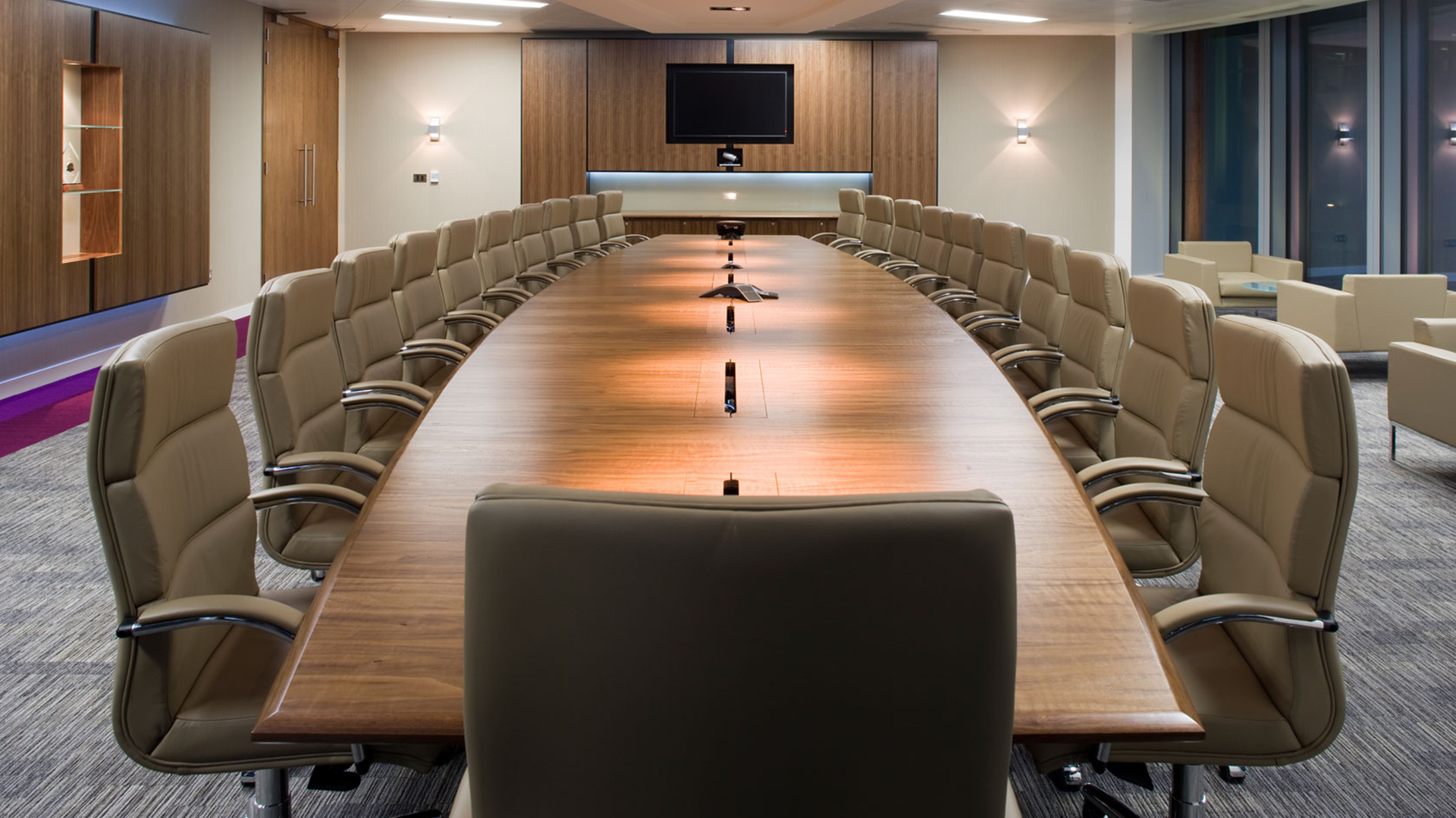 Ricoh executive boardroom. Virtual background to use on Zoom, Microsoft Teams, Skype, Google Meet, WebEx or any other compatible app.