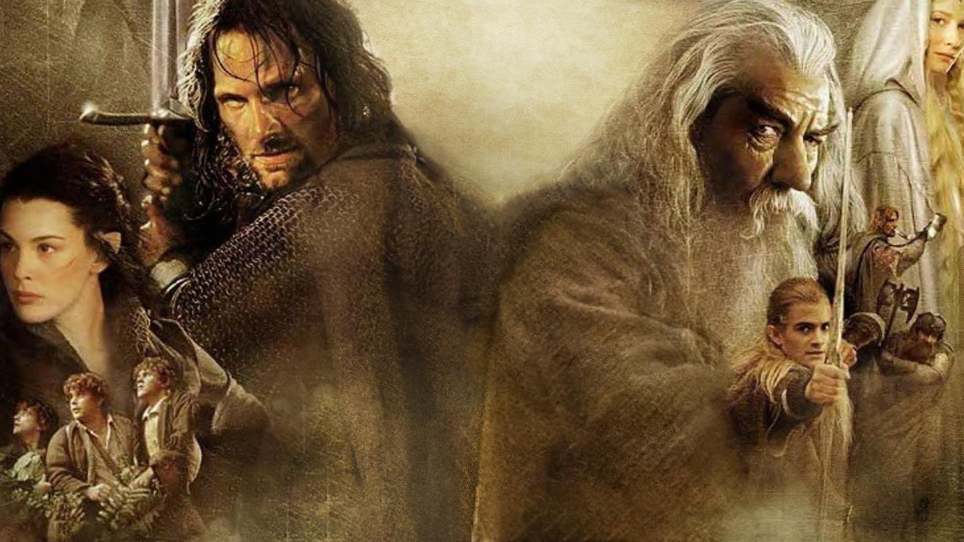 The Lord of the Rings fellowship poster. Virtual background to use on Zoom, Microsoft Teams, Skype, Google Meet, WebEx or any other compatible app.