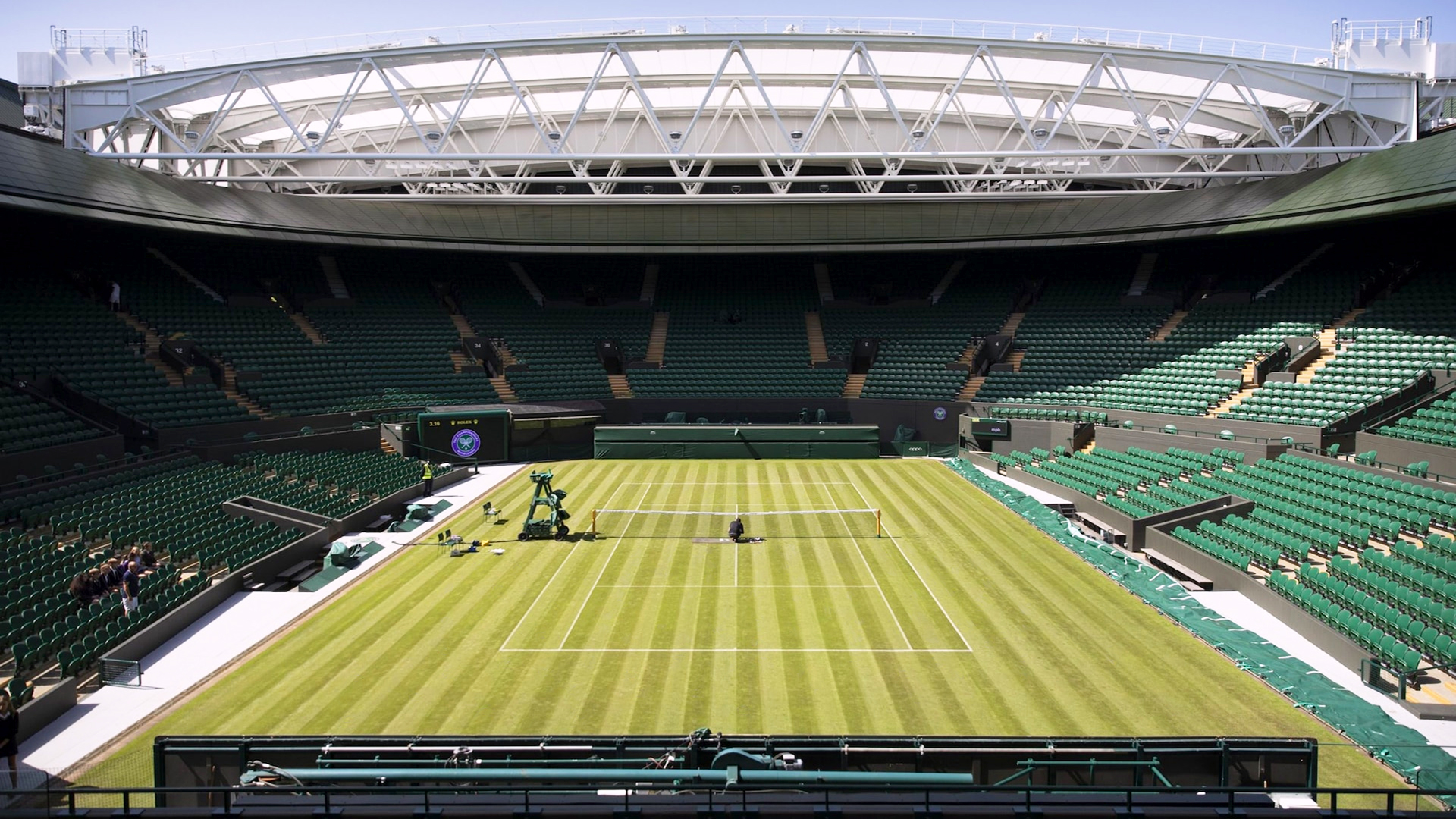 Wimbledon No. 1 Court. Virtual background to use on Zoom, Microsoft Teams, Skype, Google Meet, WebEx or any other compatible app.