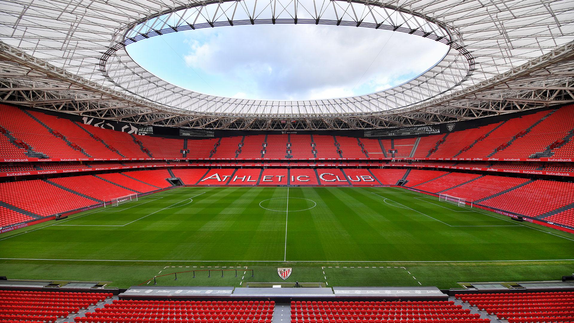 Estadio de San Mamés. Virtual background to use on Zoom, Microsoft Teams, Skype, Google Meet, WebEx or any other compatible app.