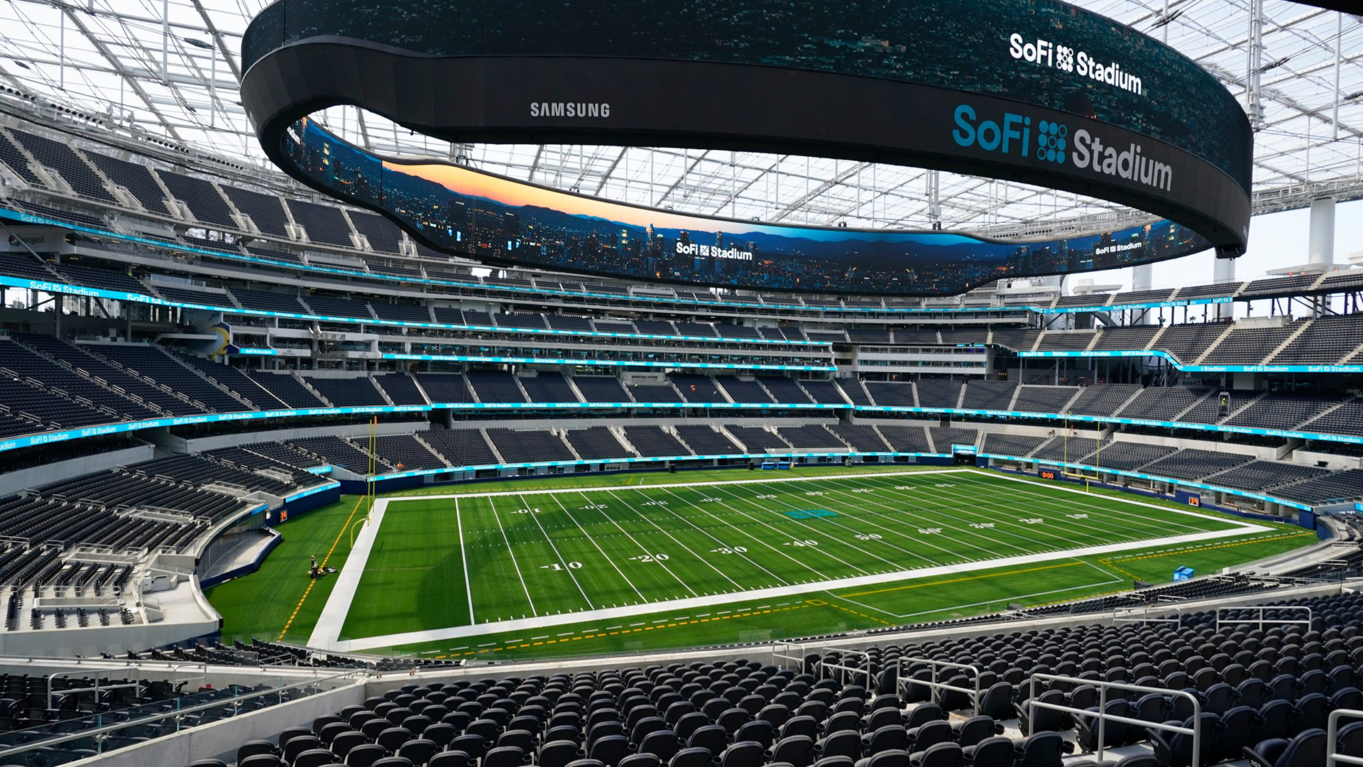 SoFi Stadium. Virtual background to use on Zoom, Microsoft Teams, Skype, Google Meet, WebEx or any other compatible app.