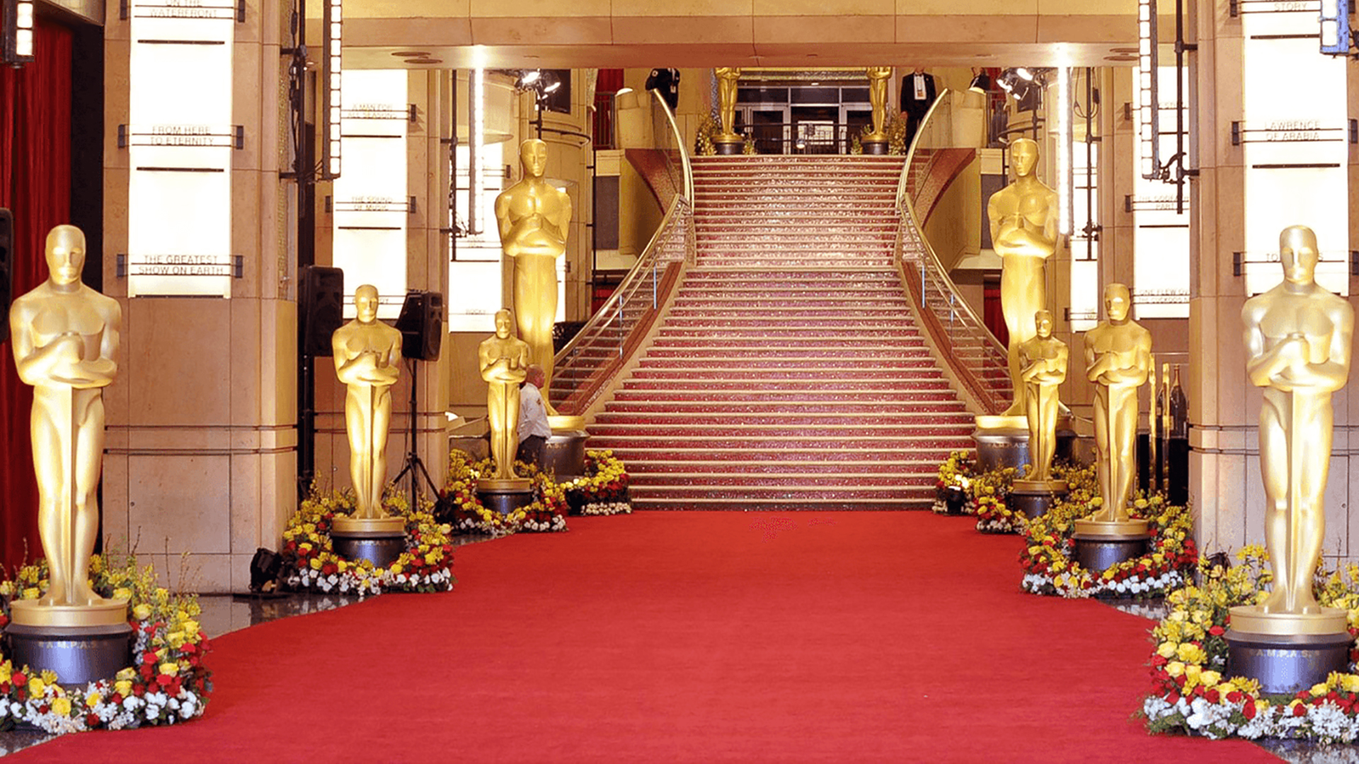 The Oscars red carpet entrance. Virtual background to use on Zoom, Microsoft Teams, Skype, Google Meet, WebEx or any other compatible app.