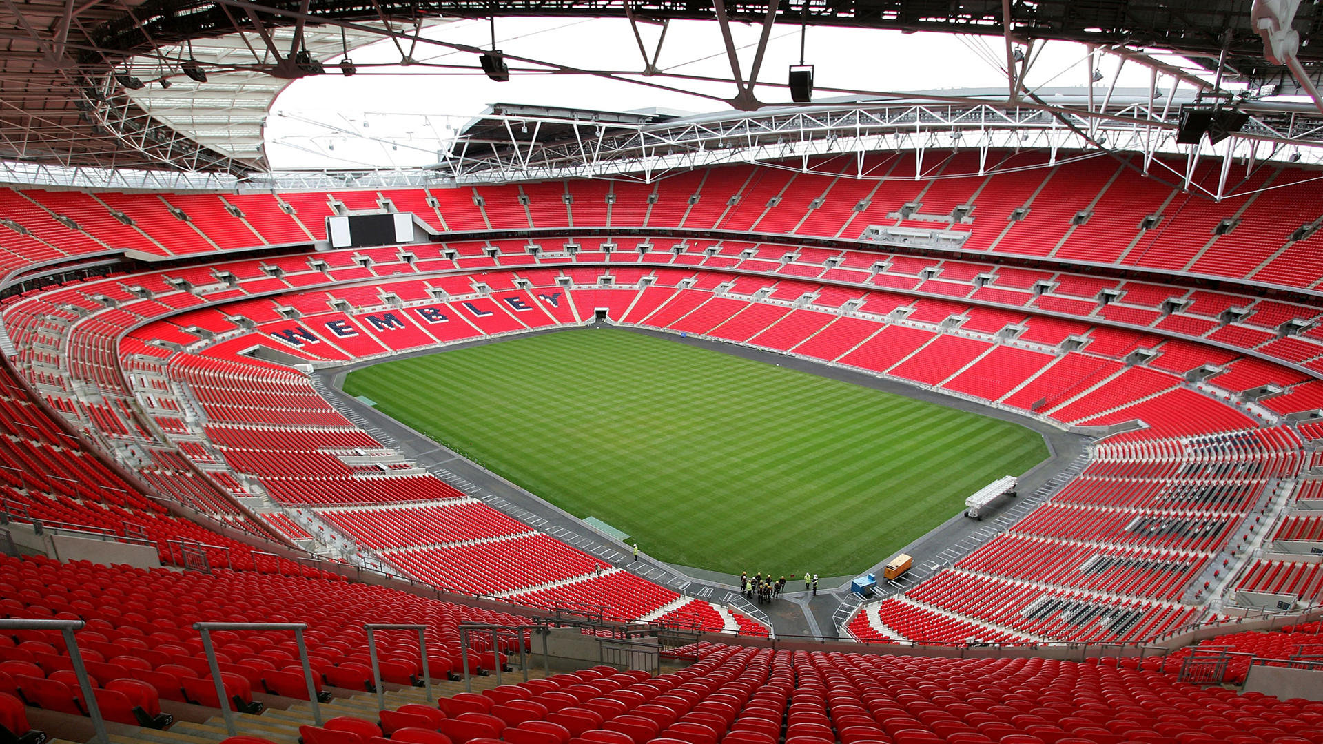 Wembley Stadium. Virtual background to use on Zoom, Microsoft Teams, Skype, Google Meet, WebEx or any other compatible app.